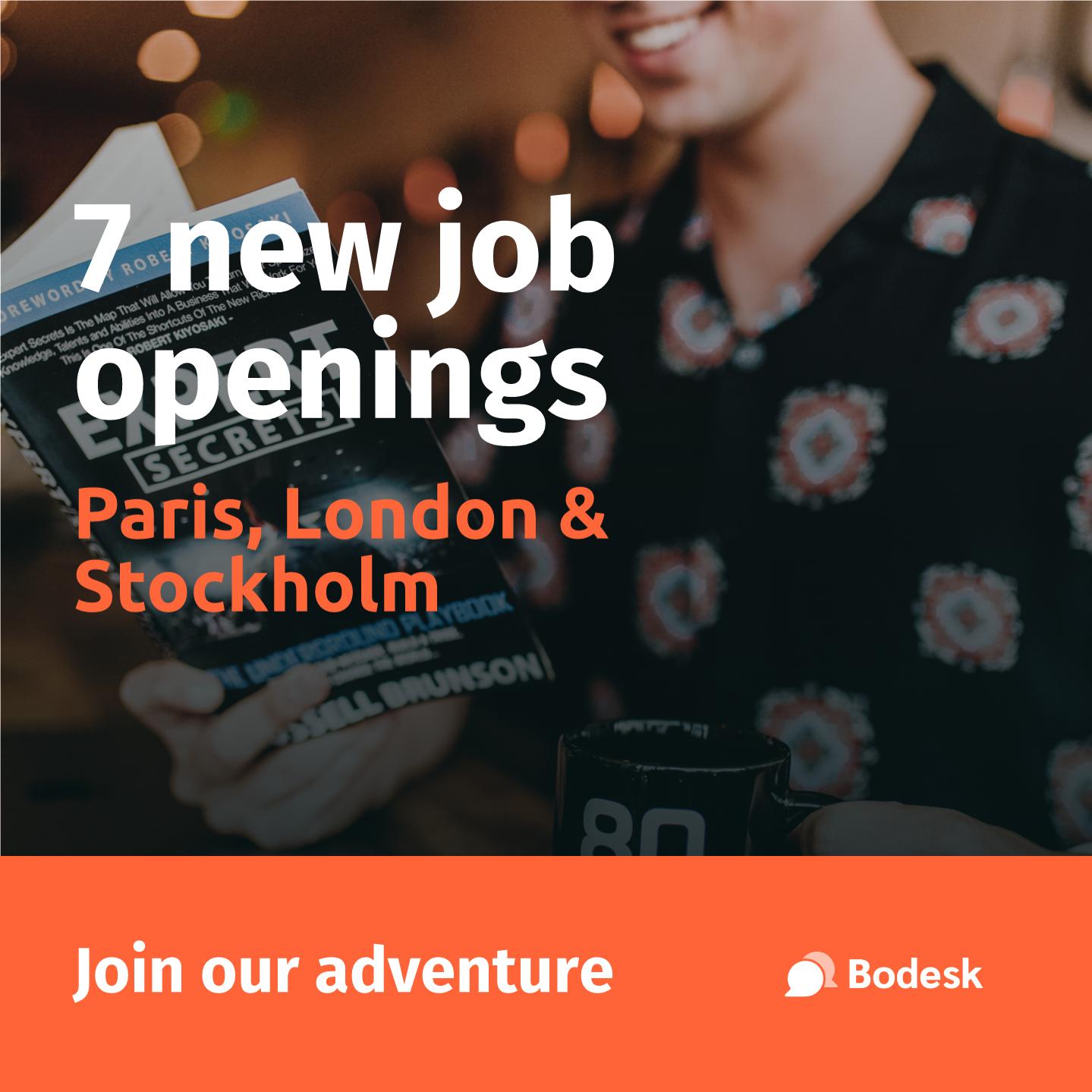 Template Post - Job openings